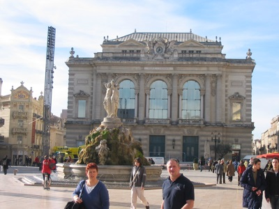 Theatre in Place de la Comédie in Montpellier